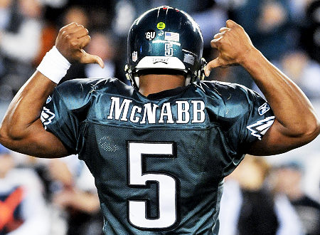 DONOVAN MCNABB just can't seem to get along with his star wide ...